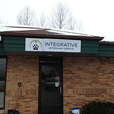 This sign was made out of formed plastic and finished off with custom printed and laminated vinyl. The LED lighting inside the sign will give the letters a beautiful halo effect at night. #3M #vinyl #sign #integrativevet #formedplastic