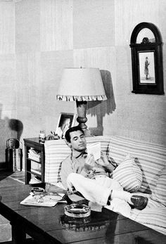 Cary Grant photographed at home by John Swope, 1952.