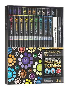 Chameleon Art Products Inc - Chameleon Color Tones - Deluxe Marker Set - 22 Pack at Scrapbook.com