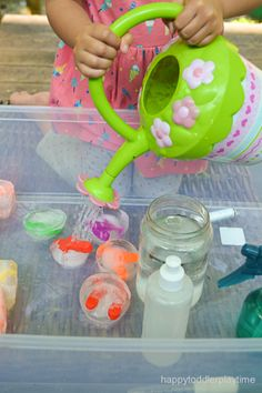 Icy Letters: A Literacy Sensory Bin - HAPPY TODDLER PLAYTIME