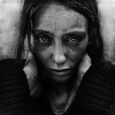 """London, UK. Homeless drug addict by  Lee Jeffries.  """"Everyone else walks by like the homeless are invisible. I'm stepping through the fear, in the hope that people will realize these people are just like me and you."""""""