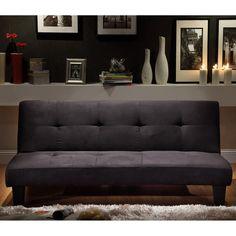 Microfiber Suede Mini Sofa Bed by Brookstone