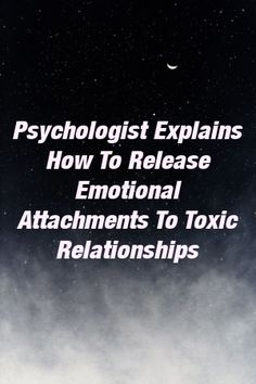 Psychologist Explains How To Release Emotional Attachments To Toxic Relationships by relationnation. Leaving A Relationship, Relationship Issues, Toxic Relationships, Better Relationship, High Stress Jobs, Understanding Men, Feeling Insecure, Couple, Breakup