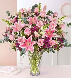 Full of Love Pink Flower Bouquet Valentine Flower Arrangements, Spring Flower Arrangements, Vase Arrangements, Beautiful Flower Arrangements, Spring Flowers, 800 Flowers, Types Of Flowers, Beautiful Flowers, Flowers For Valentines Day
