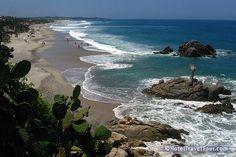 Puerto Escondido en Oaxaca, Mexico = where we got engaged '01.  Most gorgeous beaches.