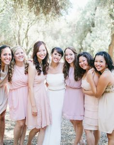 WeddingChannel Galleries: Mismatched Bridesmaid Dresses