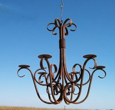 Wrought Iron Candle