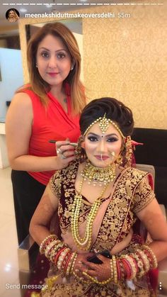 Bridal Hairstyle Indian Wedding, Indian Wedding Makeup, Bridal Hairdo, Indian Bridal Hairstyles, Indian Bridal Outfits, Indian Bridal Fashion, Bridal Photoshoot, Indian Bridal Wear, Pakistani Bridal Dresses