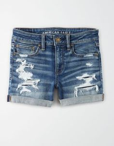 Shop Denim Midi Shorts at American Eagle to find your new favorite pair of shorts! Browse different denim washes and details in your favorite midi short length. American Eagle Outfits, American Eagle Shorts, Denim Shorts Style, Casual Shorts, Jeans Outfit Summer, Summer Shorts, Summer Clothes, Ripped Shorts, Men Shorts