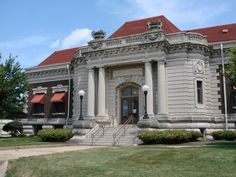 Danville, Illinois War Museum, formerly Danville Public Library, a Carnegie building.