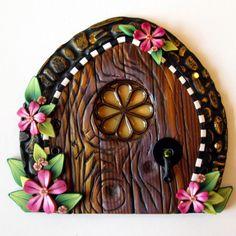 fairy garden doors | Cottage Garden Fairy Door by Claybykim on Etsy