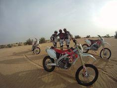Riding the sand dunes in Dubai