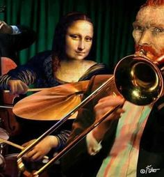 Mona & Vincent playing in a band