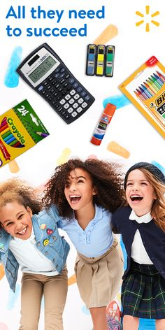 "The start of the school year is just around the corner! Make sure your kids are set up for success this school year by making sure they have everything they need to learn. Your child's class supply list is shoppable at Walmart.com/mysupplies. Select ""add all items"" and ship them home."