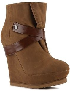 Qupid Parlane-06 Wedge Bootie at ShopStyle
