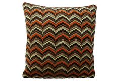 Bargello Needlepoint Pillow on OneKingsLane.com