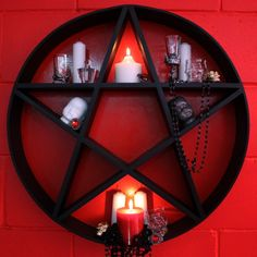Pentagram Shelves to store all your mystical goodies