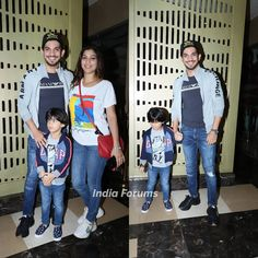 Arjun Bijlani snapped with his lovely family at the screening of Super 30 last night 💕 . . . @arjunbijlani @nehaswami  arjunbijlani  super30  screening  telly  celebrity  indiaforums  indiaforumsbuzz  ifexclusive  style  outfitideas  bollywoodmovies