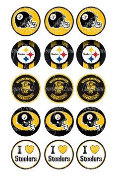 "Steelers U PRINT.. 1"" Bottle Cap Images Sent To You... U PRINT"