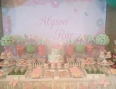 Pink & Mint Butterfly Baby Shower