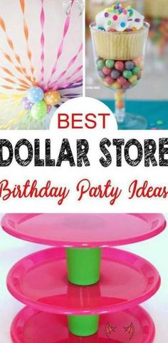 Dollar Store Hacks for the BEST birthday party ideas  Find cheap  inexpensive  budget friendly party ideas for kids  teens  tweens and adults  Amazing birthday party supplies with Dollar Tree products - DIY craft projects that are easy and simple  Birthday party decorations  centerpieces  cupcake stands  snack table ideas and more that everyone will love  #homedecor #decoratingideas #decorstyle<br> Dollar Store Hacks, Dollar Stores, Dollar Dollar, Oreo Cheesecake, Birthday Party Decorations, Birthday Parties, Cupcake Decorations, Birthday Centerpieces, Diy Birthday