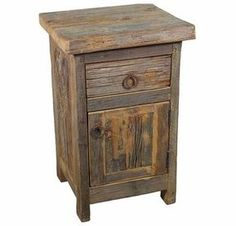 Our rustic reclaimed barn wood nightstand will bring warmth and character to your bedroom, from Indeed Decor, curators of unique home decor. Barn Wood Projects, Reclaimed Wood Projects, Reclaimed Wood Furniture, Reclaimed Barn Wood, Old Wood, Repurposed Furniture, Rustic Furniture, Rustic Wood, Cool Furniture