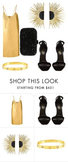 """Untitled #511"" by jaykate on Polyvore featuring Manokhi, Yves Saint Laurent, Aurélie Bidermann, Cartier and Santi"