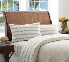 Give any bedding ensemble a tropical touch with the Tommy Bahama Pineapple Garland Sheet Set. Decked out in pineapple-shaped rows of khaki tropical leaves, the cotton percale sheets will layer your bed with style and comfort. Twin Sheets, Twin Sheet Sets, Flat Sheets, 100 Cotton Sheets, Cotton Sheet Sets, Classic Pillows, Percale Sheets, California King