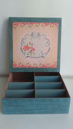 Caixa 35x35 com patina
