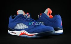 Air Jordan 5 Low Knicks Color:Deep Royal Blue/Team Orange-Midnight Navy Style Code:819171-417 Release Date:March 28, 2016 Price:$175