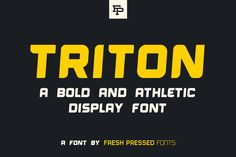 Triton Display Font - Display