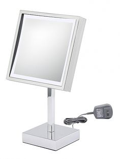 plug in vanity mirror. Kimball  Young 712 Series 3x Plug in LED Square Vanity Mirror seattleluxe Jerdon 8 1 2 Lighted Vanities and Products