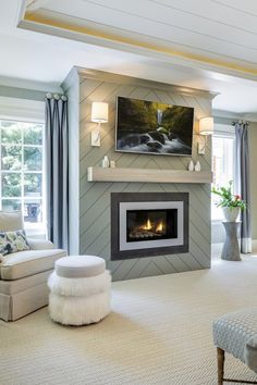 28 Interesting Electric Fireplace Designs Ideas For Living Room. If you are looking for Electric Fireplace Designs Ideas For Living Room, You come to the right place. Below are the Electric Fireplace. Fireplace Accent Walls, Fireplace Cover, Shiplap Fireplace, Small Fireplace, Bedroom Fireplace, Home Fireplace, Fireplace Remodel, Living Room With Fireplace, Fireplace Surrounds
