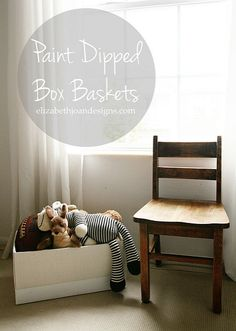 Paint Dipped Box Baskets