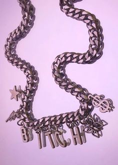 the bitchy chain – discotonic Regina George, Stainless Steel Chain, Sterling Silver Chains, Charmed, How To Make, Jewelry, Jewlery, Jewerly, Schmuck
