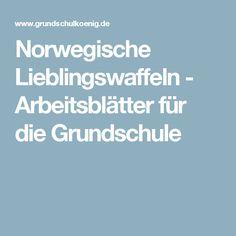 Norwegische Lieblingswaffeln - Arbeitsblätter für die Grundschule