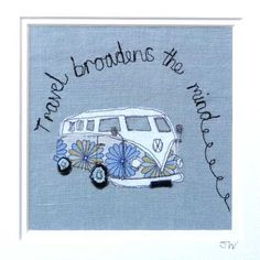 Juju and Bubba - VW campervan collage