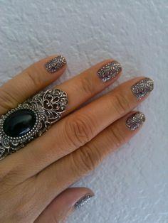 Sephora nail bling. Matches my ring!