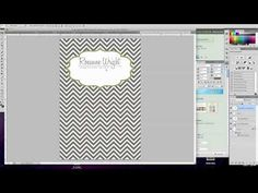 ▶ Using Patterns to Make Invitations in Photoshop - YouTube