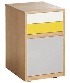 Habitat Albion 3 Drawer Filing Cabinet.