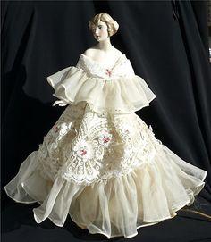 half dolls price guide   Delightful Vintage Porcelain Half Doll Table Lamp Completed