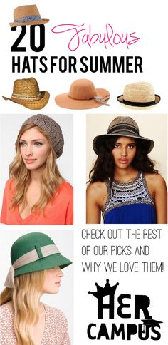 20 Fabulous Hats for Summer