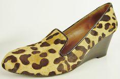 Donald J Pliner Womens size 8 Hair Leopard Print Wedge Heels Shoes #DonaldJPliner #PlatformsWedges