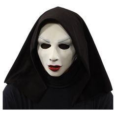 Zagone Nun Like Her Mask, Evil White Nun. A Mysterious Lover in a white finish with hidden eye sockets. Includes one (1) Latex Mask.  Family owned company, Handmade in the U.S.A., One Size Fits Most, Great for Halloween, Cos play and theatre.