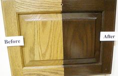 how to update oak or wood cabinets including stain, paint, hardware and hinge ideas
