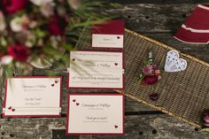 Barn wedding inspiration with the color of the year 2015, which is marsala.   Marsala colored stationary elegant and still classy. Produced by marialuisebauer photography.  A short wedding dress, beautiful details, suspenders for him, marsala colored bow tie and petticoat, marsala shoes.