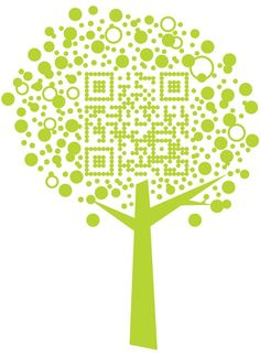 Tree QR by #Nexence http://pinterest.com/networkfindercc/qr-code-design/