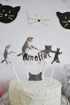 Amelia's kitty cat birthday party.