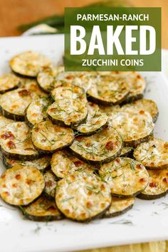 Baked Zucchini Recipe -- need a good zucchini recipe to use up your bounty? These Parmesan-Ranch Baked Zucchini Coins are absolutely fabulous! | unsophisticook.com