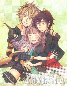 Toma, Orion, Heroine et Shin Amnesia Anime, Amnesia Shin, Amnesia Memories, Angel Of Death, Manga Pictures, Fujoshi, Yandere, Pretty Pictures, Manga Anime